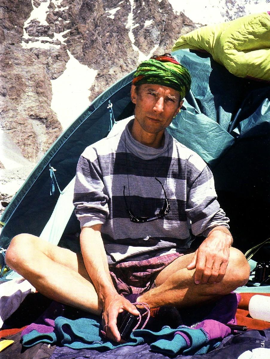 Войтек в Базовом лагере под К2, 1996 год.
